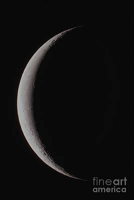 The Waning Thin Crescent Moon Poster