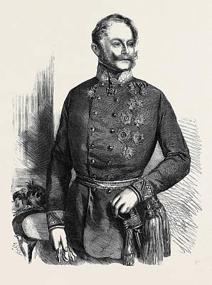 The War Count Gyulai Commander-in-chief Of The Austrian Poster by Austrian School