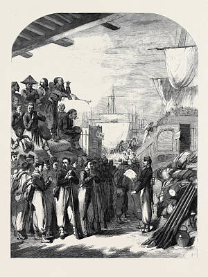 The War Embarkation Of Zouaves At Marseilles Poster