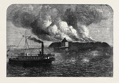 The War In America Fort Ocracoke On Beacon Island North Poster