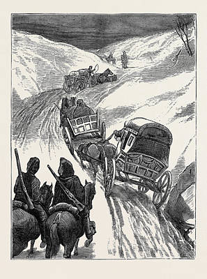 The War In The East The Red Cross Society Homeward Bound Poster by English School