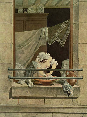 The Washerwoman, Engraved By J. Laurent Poster by Augustin de Saint-Aubin