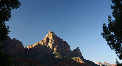 The Watchman In Zion National Park Poster