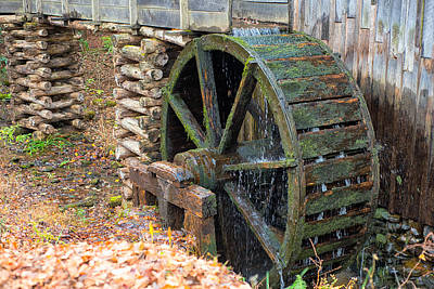 The Water Wheel At Cable Grist Mill Poster