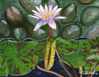Poster featuring the painting The Waterlily by Laura Forde