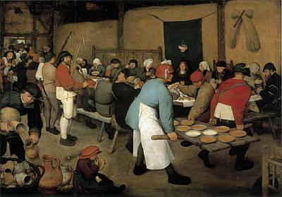 The Wedding Banquet Poster by Pieter Bruegel the Elder