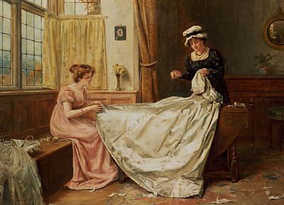 The Wedding Dress Poster by George Goodwin Kilburne