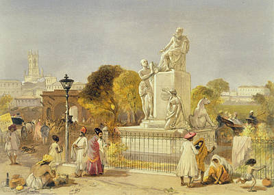 The Wellesley Monument, Bombay, 1863 Poster by William 'Crimea' Simpson