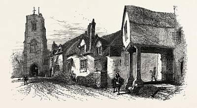 The West Gate, Warwick, Uk, Britain, British Poster by English School