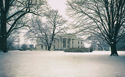 The White House In Winter Poster by Mountain Dreams