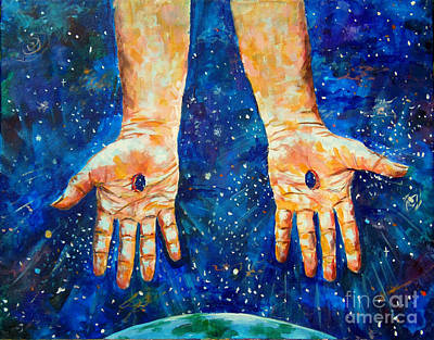 The Whole World In His Hands Poster by Lou Ann Bagnall