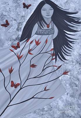 The Wind Of The Spirit Acrylic Painting By Saribelle Rodriguez Poster