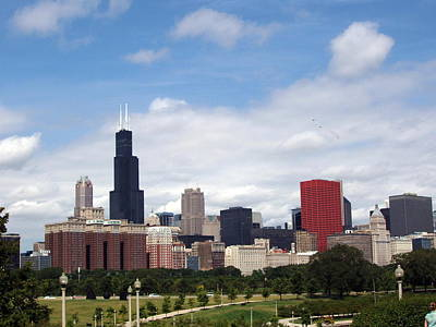 Poster featuring the photograph The Windy City by Teresa Schomig
