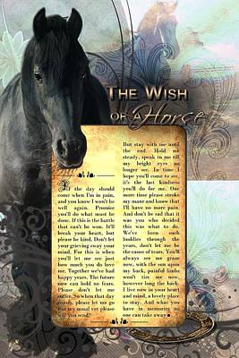 The Wish Of A Horse Poster by Graphicsite Luzern