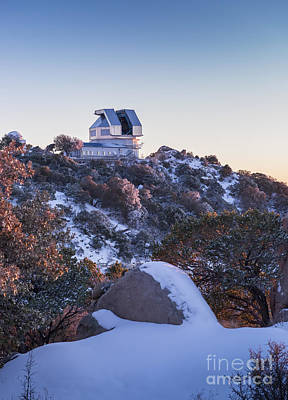 The Wiyn Observatory On Top Of Snow Poster