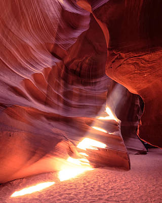 The Wizard Of Antelope Canyon Navajo Nation Page Arizona Poster by Silvio Ligutti