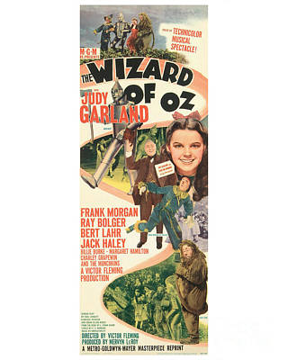 The Wizard Of Oz Movie Poster Poster by MMG Archive Prints