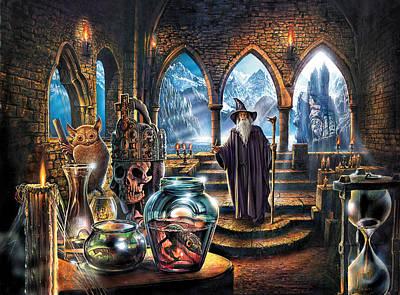 The Wizards Castle Poster by Steve Crisp