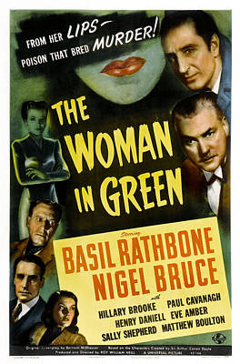 The Woman In Green, Us Poster Art, Left Poster by Everett