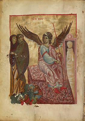 The Women At The Tomb Unknown Byzantine Empire Early 13th Poster by Litz Collection