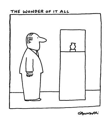The Wonder Of It All Poster by Charles Barsotti