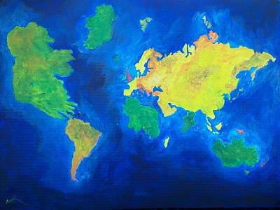 The World Atlas According To The Irish Poster