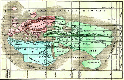The World By Eratosthenes Poster