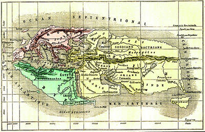 The World By Strabo Poster