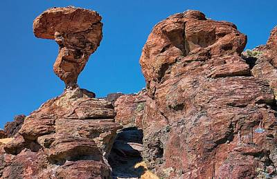 The World-famous Balanced Rock Poster by Michael Rogers