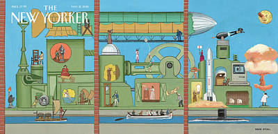 The World Tomorrow Poster by Bruce McCall