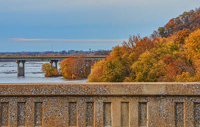 The Wright's Ferry Bridge In Fall Poster