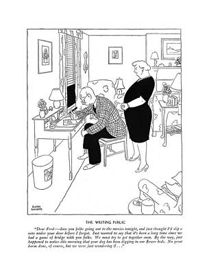 The Writing Public Dear Fred: - Saw Your Folks Poster