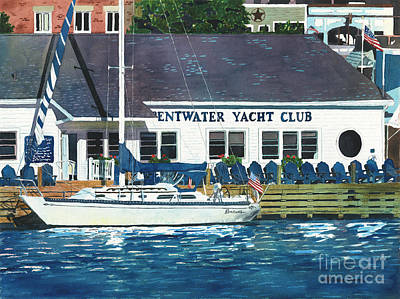 The Yacht Club Poster by LeAnne Sowa