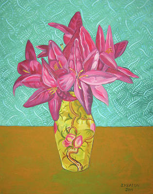 The Yellow Vase Poster by John Keaton
