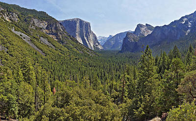 Poster featuring the photograph The Yosemite Valley by Sebastien Coursol