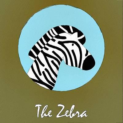 The Zebra Cute Portrait Poster