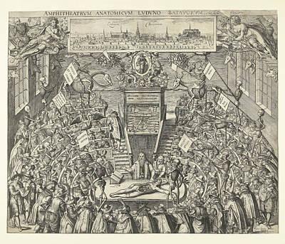 Theatrum Anatomicum Van Leidse Academie Poster by Jacob Marcus