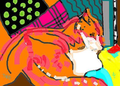 Theo Jazz Poster by Anita Dale Livaditis