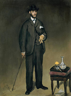 Theodore Duret 1838-1927 Oil On Canvas Poster by Edouard Manet