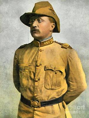 Theodore Roosevelt As A Rough Rider Poster