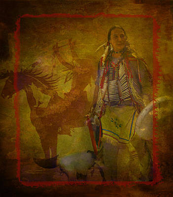 There Was Blood - Tribute To Native Americans Poster by Jeff Burgess