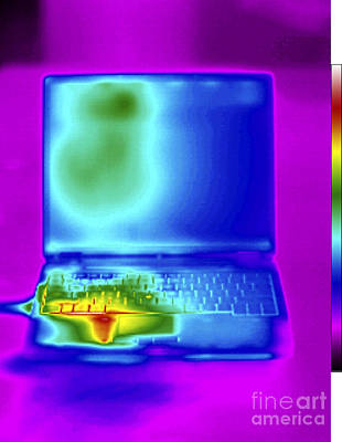 Thermogram Of A Laptop Poster