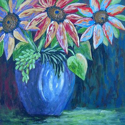 Poster featuring the painting These Are For You by Suzanne Theis