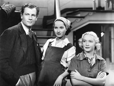 These Three, From Left, Joel Mccrea Poster by Everett