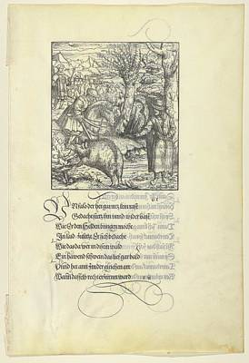 Theuerdarnk On A Boar Hunt Poster by Hans Burgkmair