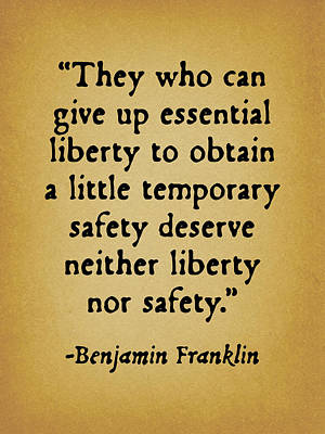 They Who Can Give Up Liberty Poster by God and Country Prints