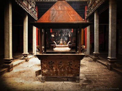Poster featuring the photograph Thien Hau Temple  by Lucinda Walter
