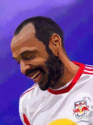 Thierry Henry Poster by Jeremy Nash