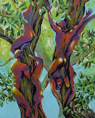 Poster featuring the painting Think Like A Tree by Robert D McBain