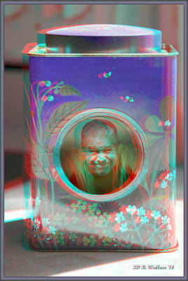 Thinking Inside The Box - Red/cyan Filtered 3d Glasses Required Poster by Brian Wallace